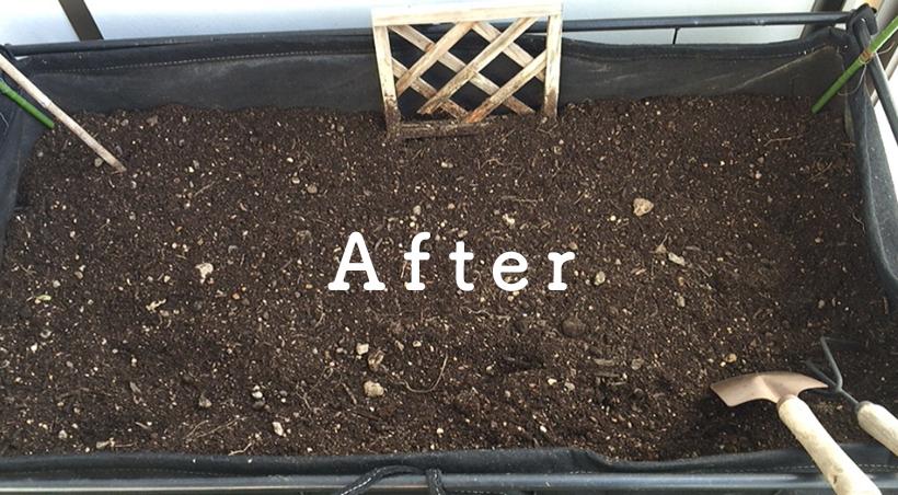 家庭菜園の土after