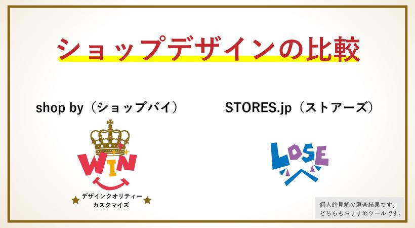shop byとSTORES.jpのショップデザインで比較
